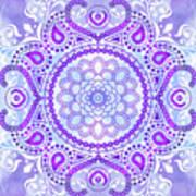 Purple Lotus Mandala Poster
