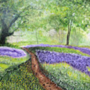 Purple Meadow Poster