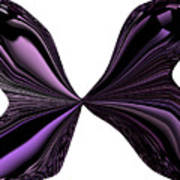 Purple Monarch Butterfly Abstract Poster