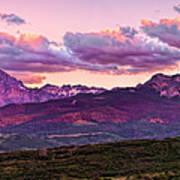 Purple Mountain Sunset Poster