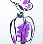 Purple Perfume Bottle Poster