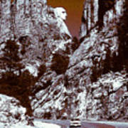 Purple Mount Rushmore Vision Poster