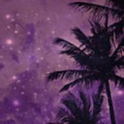 Purple Sky Palm Poster
