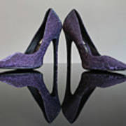 Purple Stiletto Shoes Poster