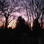 Purple Sunrise Poster
