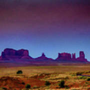 Purple Sunset In Monument Valley Poster