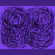 Purple Swirls Poster