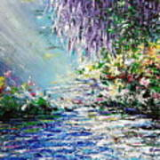 Purple Tree By The Lake Poster