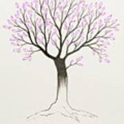 Purple Tree Poster