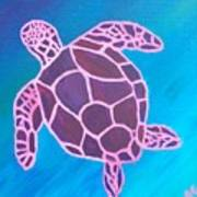 Purple Turtle Poster
