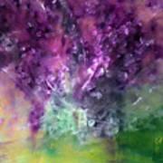 Purple Vortex Painting Poster