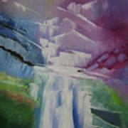 Purple Waterfalls Poster