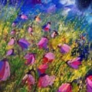 Purple Wild Flowers  Poster