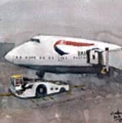 Push Back 747 Style London Poster