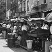 Pushcart Market, 1939 Poster