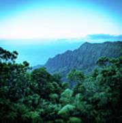 Puu O Kila Lookout, Kauai, Hi Poster