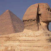 Pyramid And Sphinx Poster