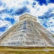 Pyramid Of The Maya  Poster