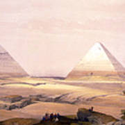 Pyramids Of Geezeh - Egypt Poster