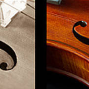 Quadriptych Of Musical Curves Poster