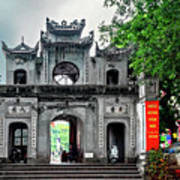 Quan Thanh Temple Gate Poster
