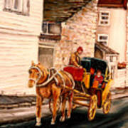Quebec City Carriage Ride Poster
