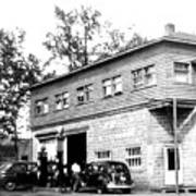 Quebec Garage 1940s Poster