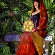 Queen Of Pentacles Poster by Tammy Wetzel