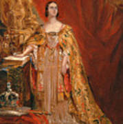 Queen Victoria Taking The Coronation Oath 28 June 1838 Poster