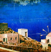 Quiet Day - Olympos - Karpathos Island - Greece Poster