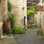 Quiet Lane In St Cirq I France Poster