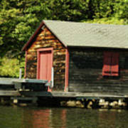 Quiet Sunapee Fishing Cabin Poster