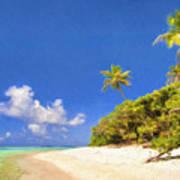 Quiet Tahiti Beach Poster