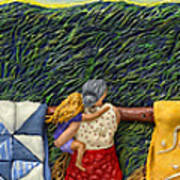 Quilted Harvest Poster by Anne Klar