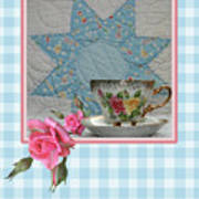 Quilted Star Card Poster