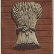 """""""sheaf Of Wheat"""" Shop Sign Poster"""