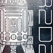 R2d2 - Star Wars Art - Space Poster