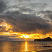 Rabbit Island Sunrise - Oahu Hawaii Poster by Brian Harig