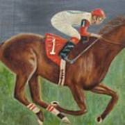 Race Horse Big Brown Poster
