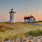 Race Point Light Cape Cod Square Poster