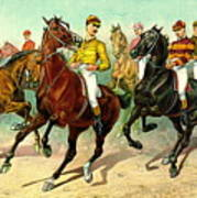 Racehorses 1893 Poster