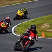 Racing Through Turn 11 Poster