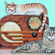 Radio Cats Poster by Chris Dreher