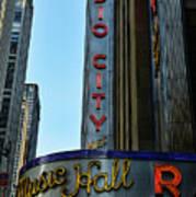 Radio City Music Hall Poster by Paul Ward