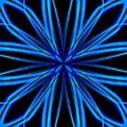 Radioactive Snowflake Blue Poster