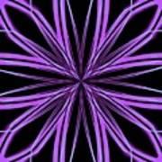 Radioactive Snowflake Purple Poster