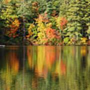 Raft On Autumn Pond Poster