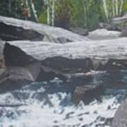 Ragged Falls Poster