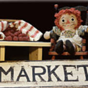 Raggedy Ann Selling Raspberries Poster