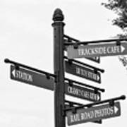 Railroad Directions_bw Poster